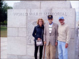 Sandra Wolfson Berg, Willy Wolfson, and Stephen Wolfson at the World War II Memorial