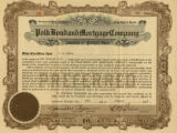 Polk Bond and Mortgage Company stock certificate