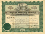 Keystone Developing Company stock certificate