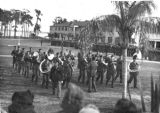 Marching band at the Lodwick School of Aeronautics, Lakeland, Florida